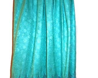 green silk skirt - silk skirt - green skirt for women - pretty skirt - lucrezia - 80s silk skirt - 1980s skirt - 80s vintage - silk and lace