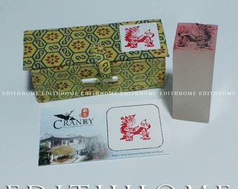Chinese Stone Lion Stone Seal Stamp Chop w/. Gift Box (Free Shipping)
