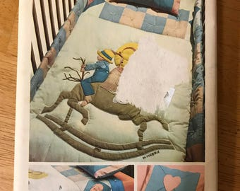 Simplicity 6702 - 1970s Holly Hobbie Quilt for Baby or Girl