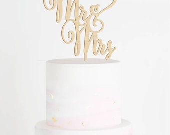 Mr & Mrs Cake Topper, Wedding Cake Topper, Mr and Mrs Cake Topper, Wood Cake Topper, Rustic Cake Topper, Engagement Cake Topper