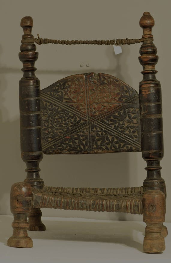 Chair Middle Eastern Swat Valley Wood Carved Handmade Floor Chair