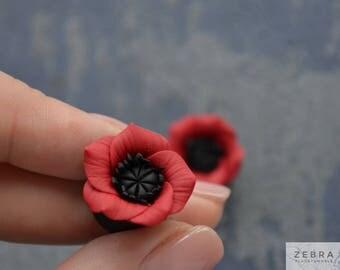 """Poppy flowers plugs,Ear piercing gauges,8,10,11,12,14,16,18,20,22,24,26,28,30mm;2-0g,00g;5/16"""",3/8"""",7\16"""",1/2"""",9/16"""",5/8"""",3/4"""",7/8"""",1 1/4"""""""