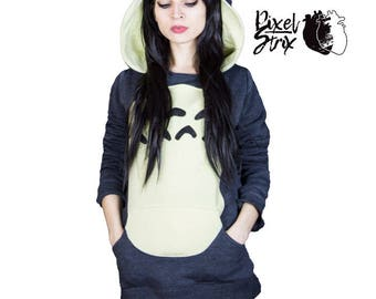 Totoro inspired hoodie
