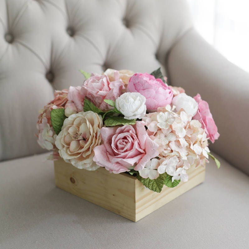 paper wedding centerpiece handmade paper flowers flower arrangement wedding dining table decoration size