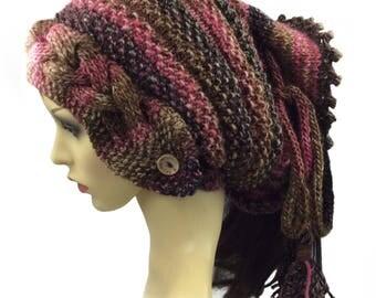 Dreadlock Hat, Dreads Hat, Tube Hat, Dreads Beanie, Slouchy beanie Slouch Beanie, Tube Beanie, Rasta Beanie cap, Slouchy Tam, Long hair hat