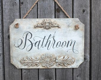 Bathroom Sign Texture unique restroom sign | etsy