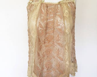 Stunning Flapper Top, Blouse, Dress, 1920's Lace Lingerie Top Blouse Dress Young Ladies Girls  Vintage