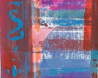 Original 4 colour monotype print