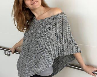 Crochet Poncho PATTERN, Poncho Crochet Pattern, Crochet Wrap, Shawl, Shrug Pattern, PDF, Garment Pattern, Crochet Top, Boho Crochet, DIY