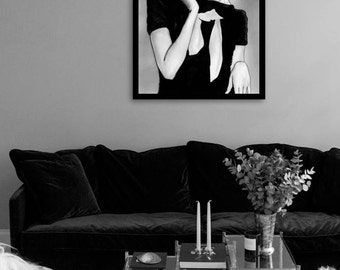 Vogue print, Vogue poster, Vogue wall art, Vogue cover, wall art, Vogue magazine, black and white illustration, instant download, digital