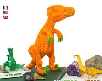 Dinosaure Velociraptor Amigurumi Crochet Patron - PDF Tuto Français