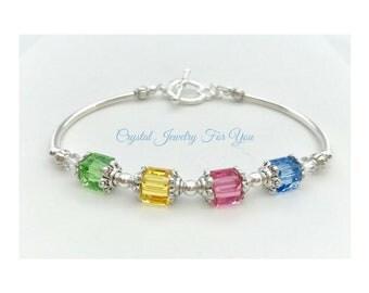 Bridesmaid Bracelet, Crystal. Racelet, Bridesmaid Gift, Bridal Party Jewelry