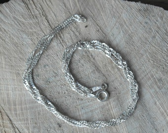 Vintage Sterling Silver Twist Chain / Necklace