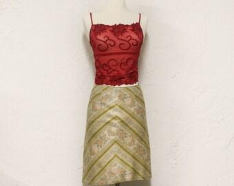 floral chevron skirt