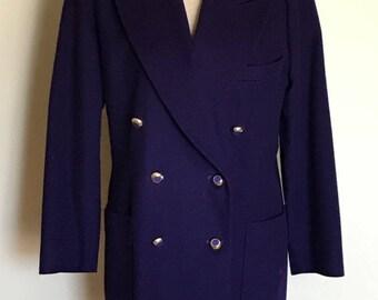 Vintage Escada Violet Purple Wool Blazer, Escada Margaretha Ley Blazer, Made in Germany, 90s 1990s