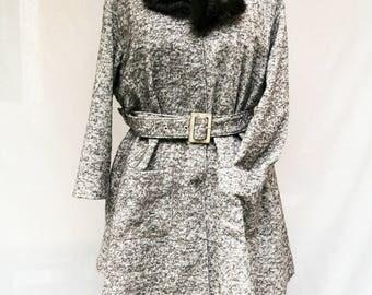Brown faux fur collar - faux mink fur collar - faux mink fur scarf - brown faux fur scarf - Hand made - Made in France