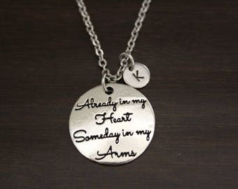 Already In My Heart Someday In My Arms Necklace-Memorial Necklace-Lost Loved One-Miscarriage Memorial-Baby Memorial-Dad Memorial-I/B/H