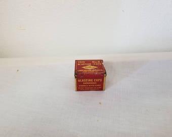 Vintage Western Blasting Caps Tin Very rare, Collectible tin, vintage advertising, vintage mining,