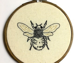 Embroidery Honey Bee, Save the Bees , Home Decor , Gift