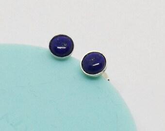 6 mm Lapis Lazuli Stud Earrings