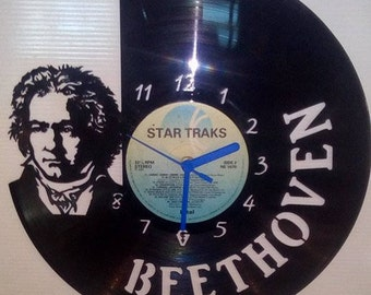 Beethoven Vinyl Record Clock