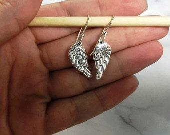 925 Sterling Silver Wings Earrings