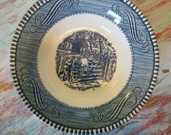 Currier & Ives berry bowl