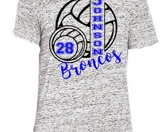Personalized Volleyball Shirt, School Spirit Shirt,  Volleyball Mom, Sports Shirt, Senior Shirt, Game Day Shirt, High School, Sports Mom
