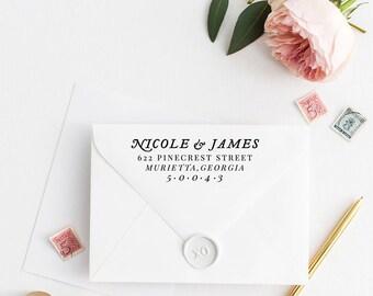 Custom Return Address Stamp, Self Ink Return Address Stamp, Personalized Address Stamp, Calligraphy Address Stamp Return Address Stamp No33