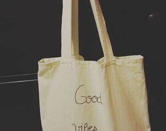 Customizable Totebag sentence / recycled cotton size