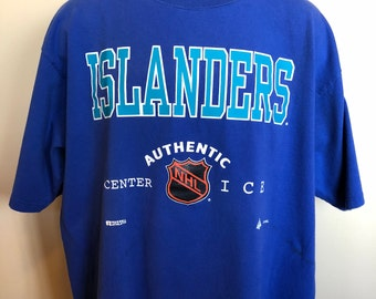 1995 New York Islanders Shirt Vintage Tee Hockey NHL Nyc Playoff Goal Jersey Champs Long Island Authentic Center Ice Russell Athletic USA XL