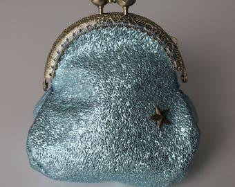 Retro purse blue glitter