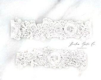 Lace Wedding Garter Set, something blue lace garter NO SLIP grip, navy garter