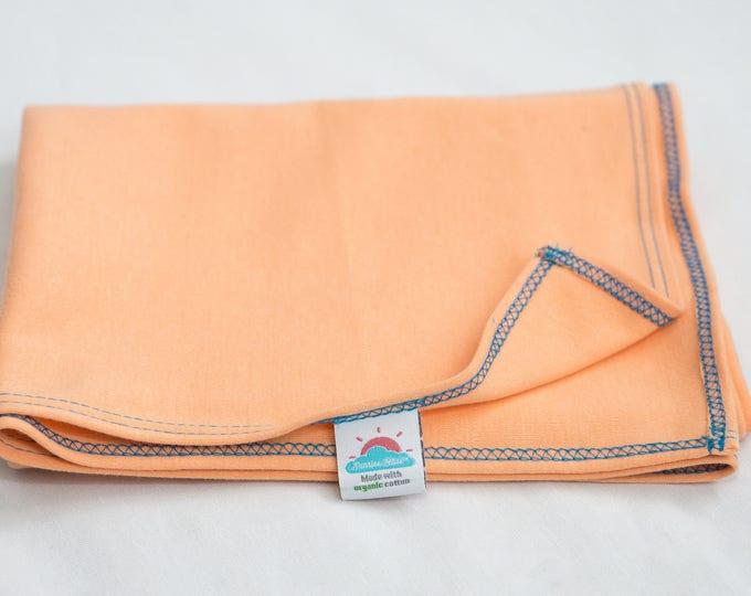 small | peach | organic cotton t-shirt hair towel