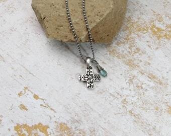 Cross Pendant Necklace | Cross Necklace | Silver Cross Necklace |