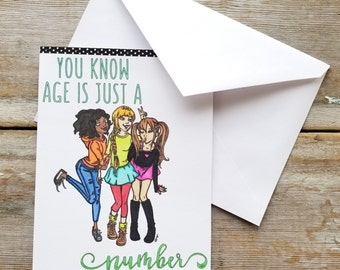 Funny Birthday Card for Her - Birthday Card for Her Sarcastic - Funny Birthday Card Best Friend - Birthday Card for Her - Best Friend Card