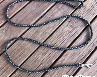 CUSTOM Round Paracord Dog Leash Lead, Custom Colours and size, 1cm width, 2ft 60cm, 4ft 120cm, 5ft 150cm, 6ft 180cm