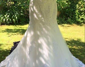 Alana Rose 'Melanie' Ivory Mermaid Style Wedding Dress