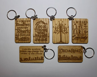Lord Of The Rings Keyrings, Birthday, Mother's Day, Christmas, Gift Pack Of 6