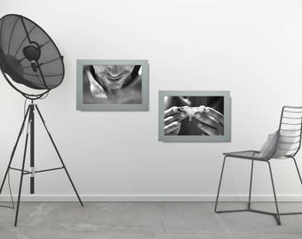 Black And White Man Photo Portrait, BW Photo Wall Art Set, Photo Poster Set, Black and White Poster Set, Black and White Printable Set