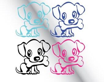 Cute Puppy Dog Animal Die-Cut, Decal, Sticker , Car Sticker, Car Decal, Car Window Sticker Phone Sticker, vehicle decal, van Sticker