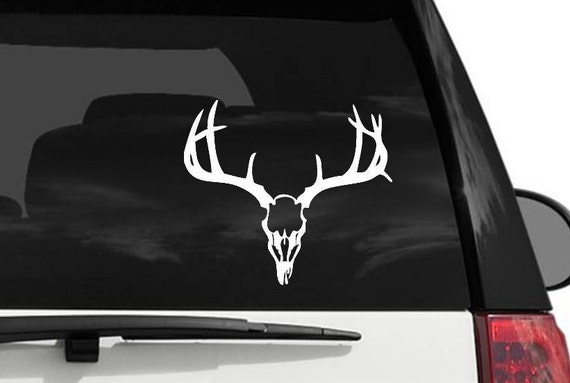 Deer Skull With Antlers Decal Vinyl Decal For Your Car - Vinyl decals for your car