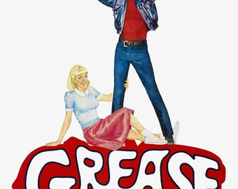 Grease movie poster A4 size