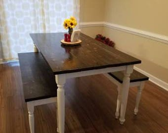 The WoodMiller Custom Hand Crafted Farmhouse Table