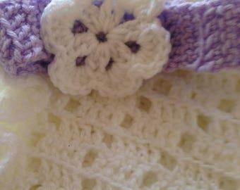 FREE SHIPPING, Flower headband, Headband, Newborn headband, baby  girl headband, handmade, Crochet baby headband, Crochet headband
