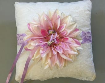 Wedding ring bearer pillow in YOUR wedding colors!