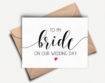 Bride Card, To My Bride On Our Wedding Day, Bride Cards from Groom, To My Bride Card, Wedding Day Card Wife, To My Wife on our Wedding Day