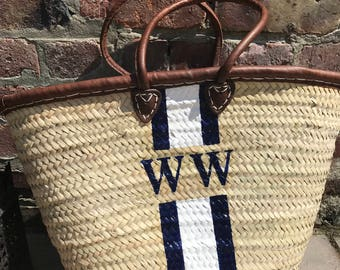 Cannes - Monogrammed French Basket