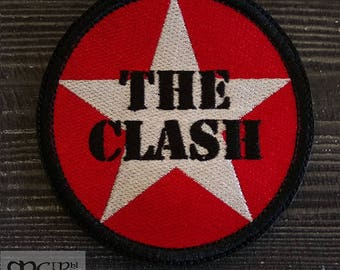Patch The Clash punk rock band.