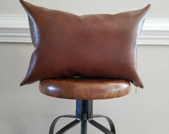 The Chestnut Leather Pillow Cover